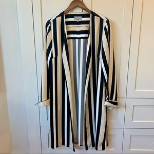 LAURA open front striped duster